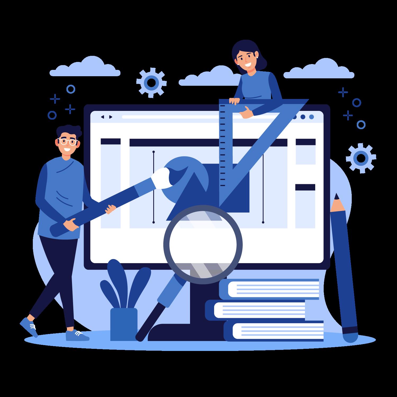 illustration du webs design de site internet